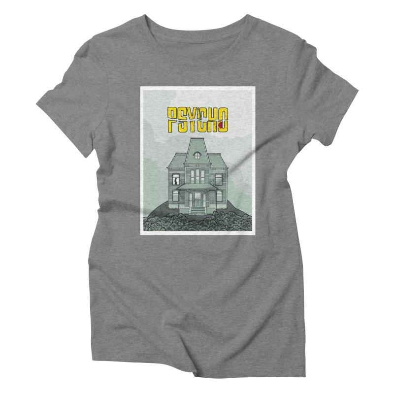 Psycho Women's Triblend T-Shirt by Steven Compton's Artist Shop