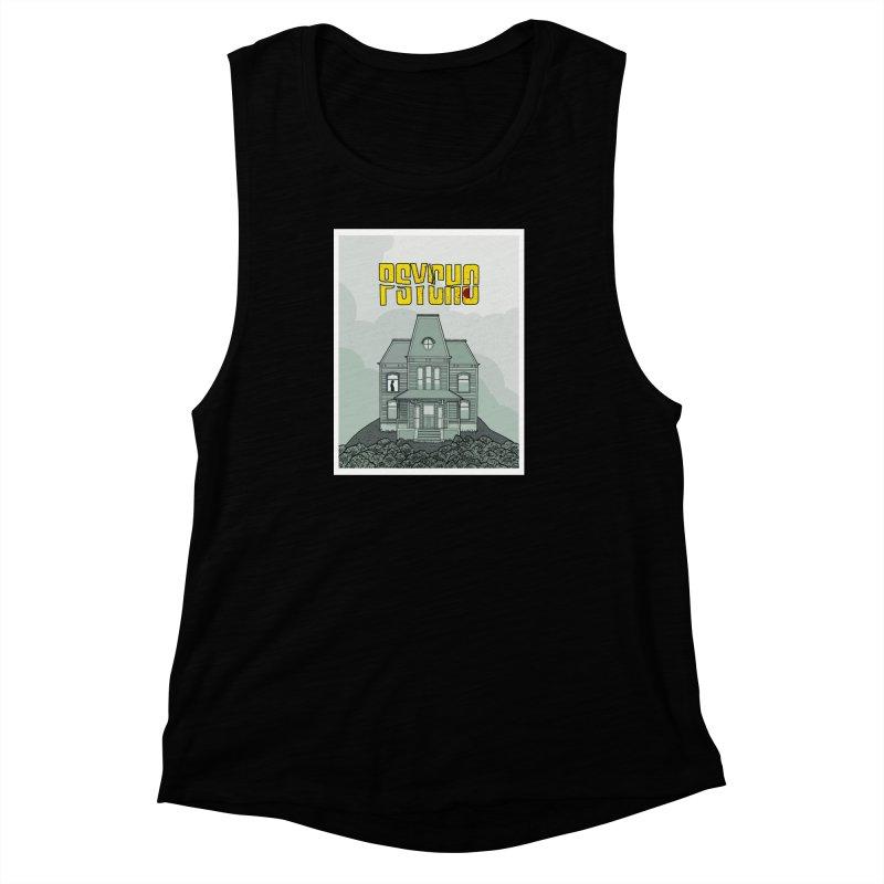 Psycho Women's Muscle Tank by Steven Compton's Artist Shop