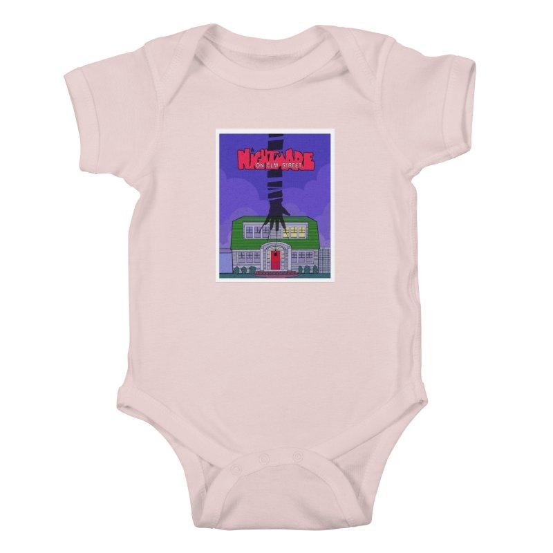 A Nightmare on Elm Street Kids Baby Bodysuit by Steven Compton's Artist Shop