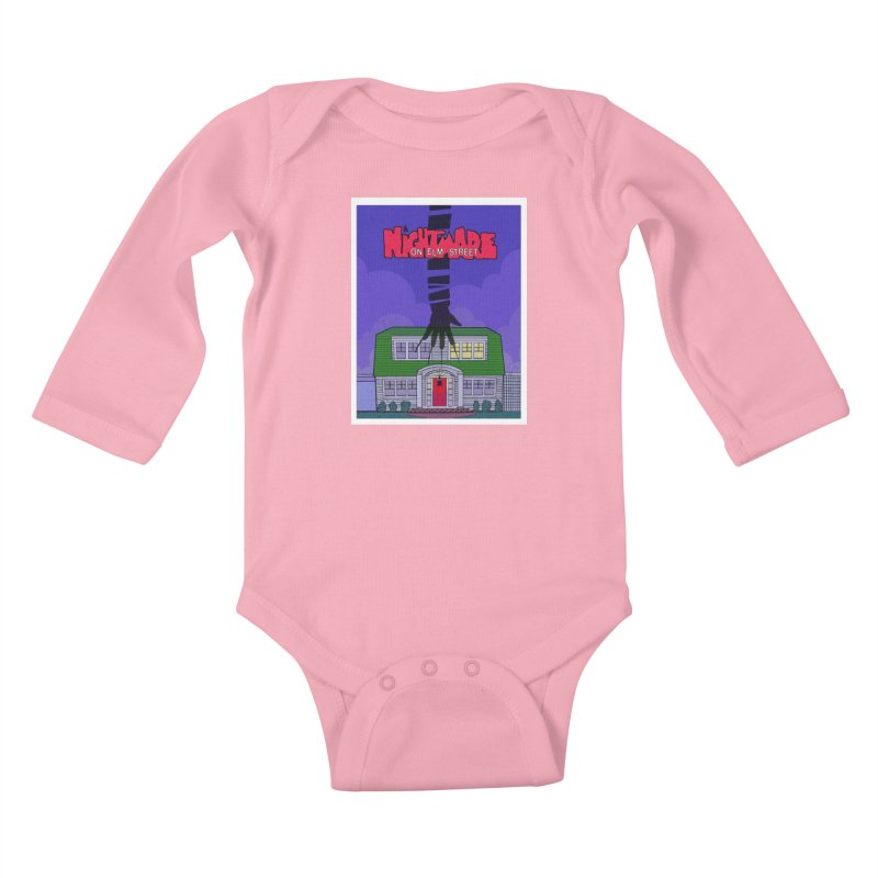 A Nightmare on Elm Street Kids Baby Longsleeve Bodysuit by Steven Compton's Artist Shop