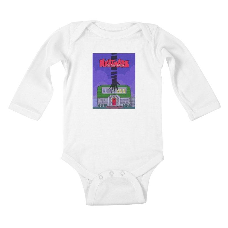 A Nightmare on Elm Street Kids Baby Longsleeve Bodysuit by Steven Compton's Artist Shop