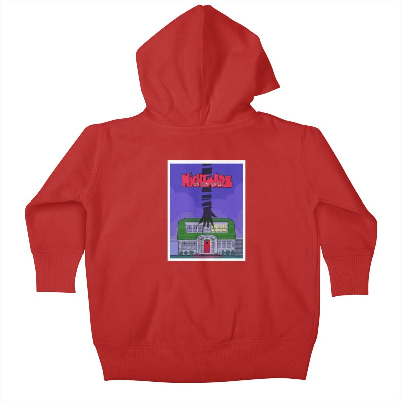 A Nightmare on Elm Street Kids Baby Zip-Up Hoody by Steven Compton's Artist Shop