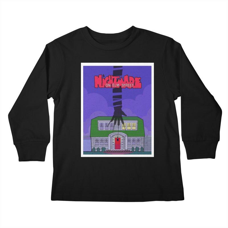A Nightmare on Elm Street Kids Longsleeve T-Shirt by Steven Compton's Artist Shop