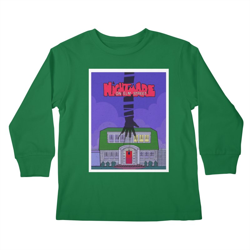 A Nightmare on Elm Street Kids Longsleeve T-Shirt by Steven Compton's Artist Shop