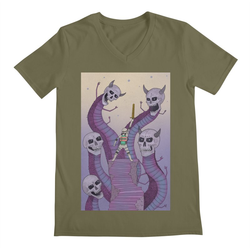 New!! T-Shirt Men's Regular V-Neck by Steven Compton's Artist Shop