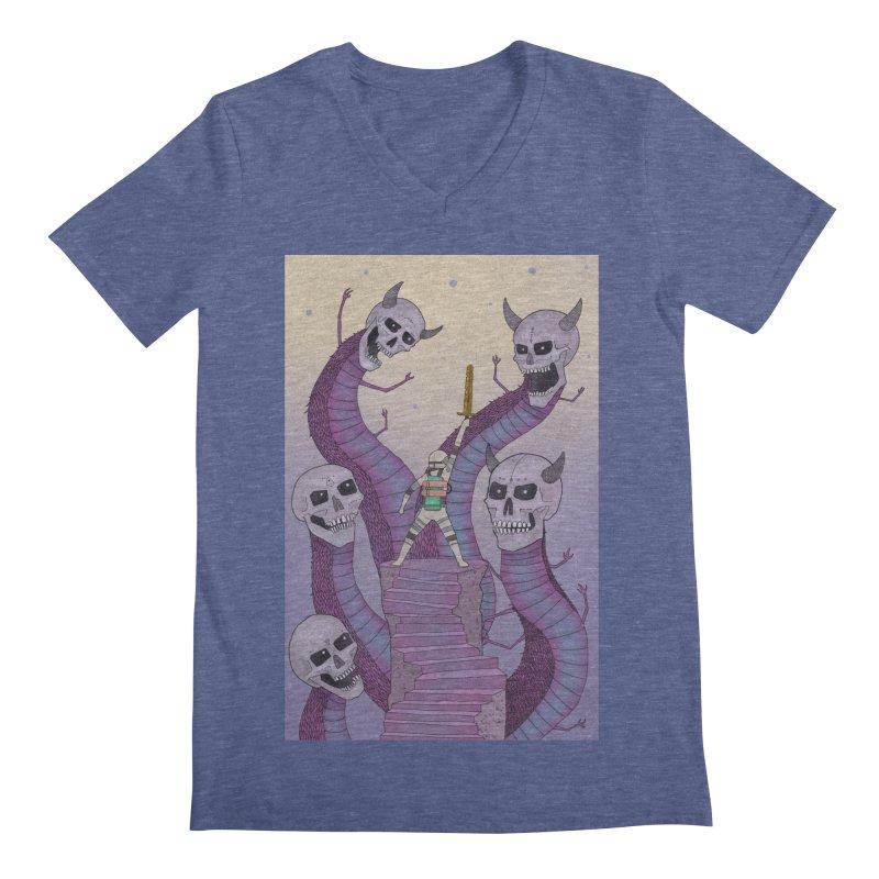 New!! T-Shirt Men's V-Neck by Steven Compton's Artist Shop