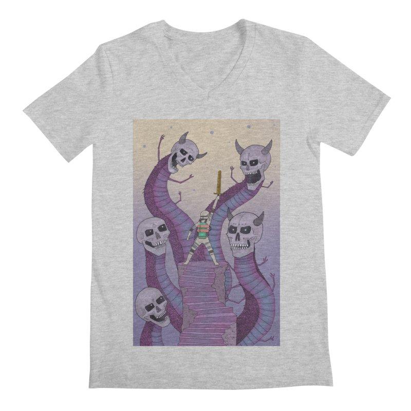 New!! T-Shirt Men's Regular V-Neck by Steven Compton's Artist Shop