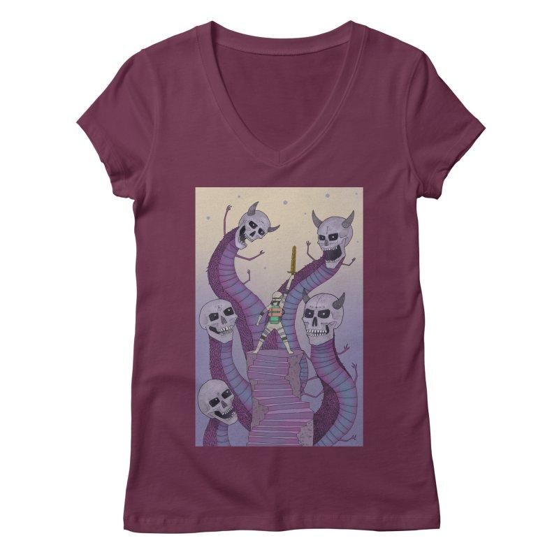New!! T-Shirt Women's V-Neck by Steven Compton's Artist Shop