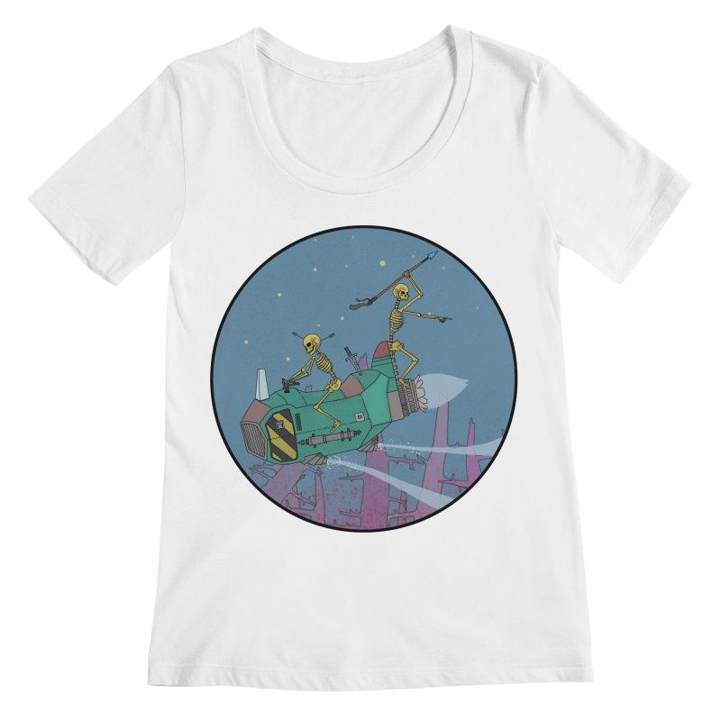 Another New Shirt! Future Space Women's Regular Scoop Neck by Steven Compton's Artist Shop