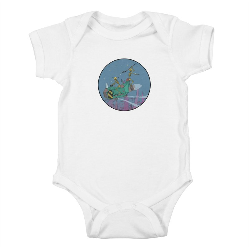Another New Shirt! Future Space Kids Baby Bodysuit by Steven Compton's Artist Shop