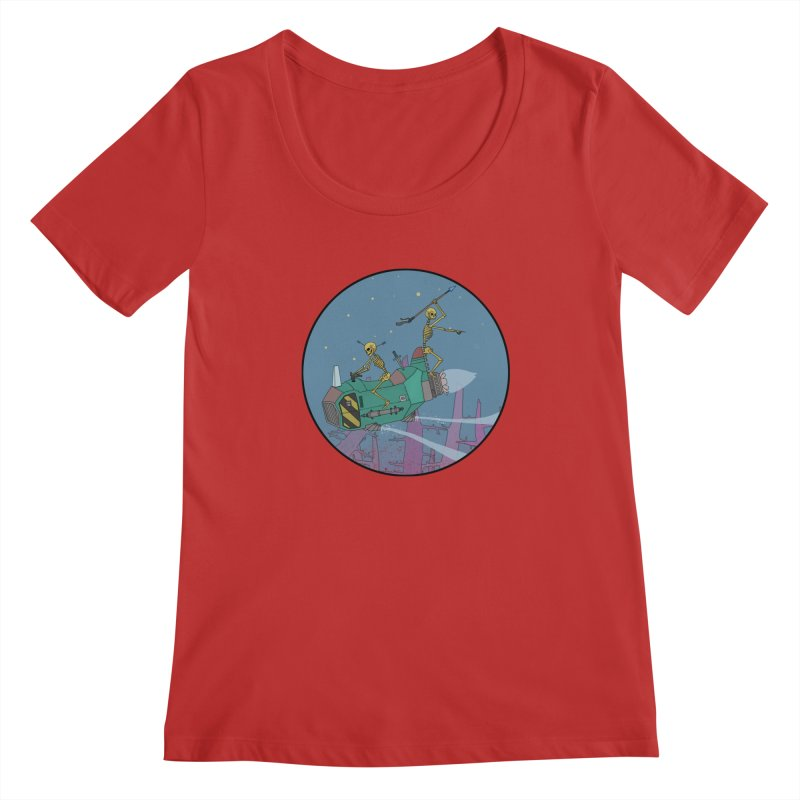 Another New Shirt! Future Space Women's Regular Scoop Neck by Steven Compton's Artist Shop