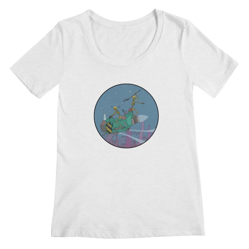 Another New Shirt! Future Space Women's Scoopneck by Steven Compton's Artist Shop