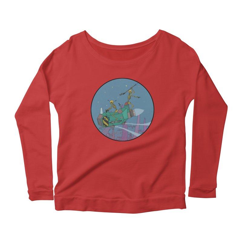 Another New Shirt! Future Space Women's Scoop Neck Longsleeve T-Shirt by Steven Compton's Artist Shop