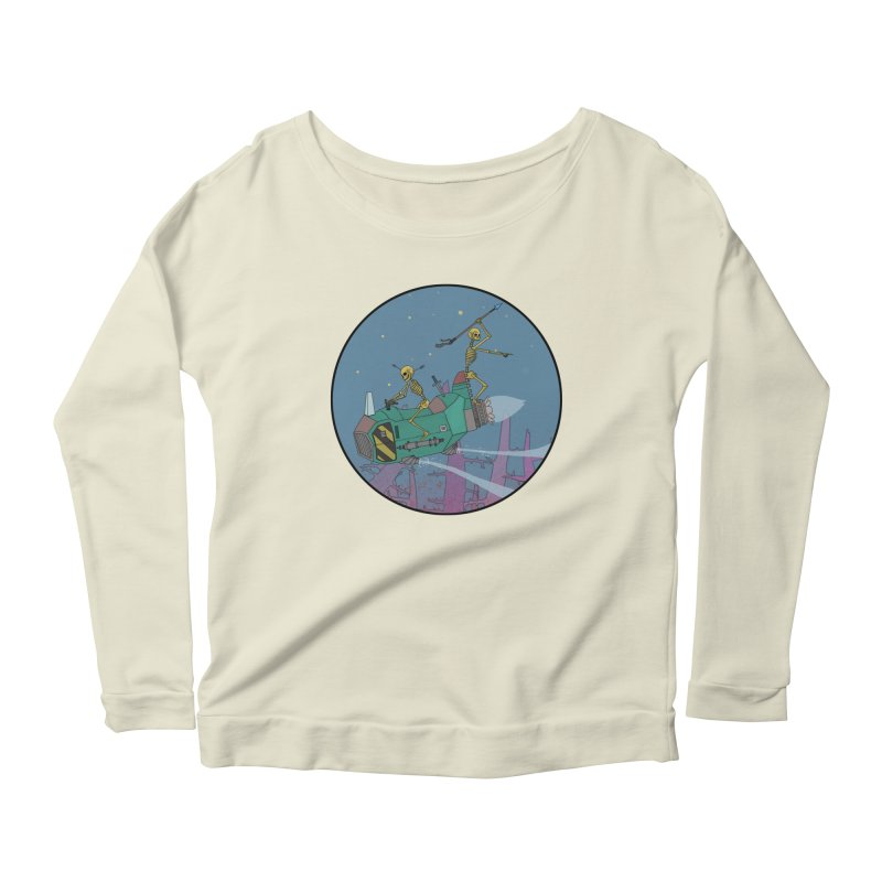 Another New Shirt! Future Space Women's Longsleeve Scoopneck  by Steven Compton's Artist Shop
