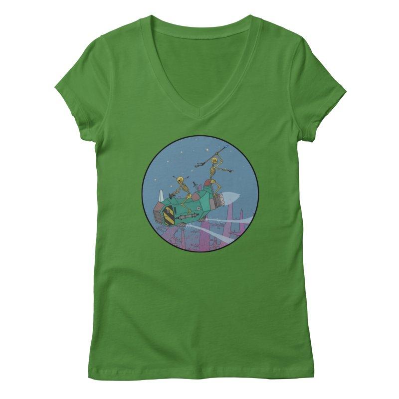 Another New Shirt! Future Space Women's Regular V-Neck by Steven Compton's Artist Shop