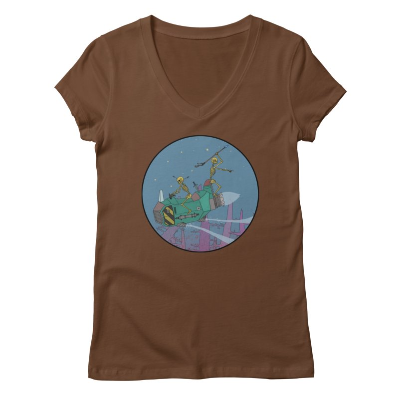 Another New Shirt! Future Space Women's Regular V-Neck by Steven Compton's Artist Shop