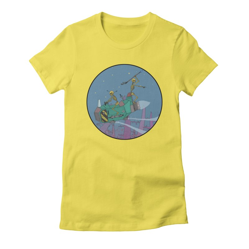 Another New Shirt! Future Space Women's Fitted T-Shirt by Steven Compton's Artist Shop