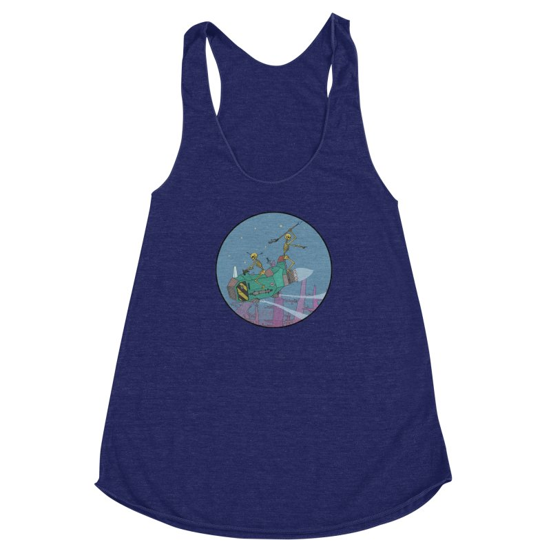 Another New Shirt! Future Space Women's Racerback Triblend Tank by Steven Compton's Artist Shop