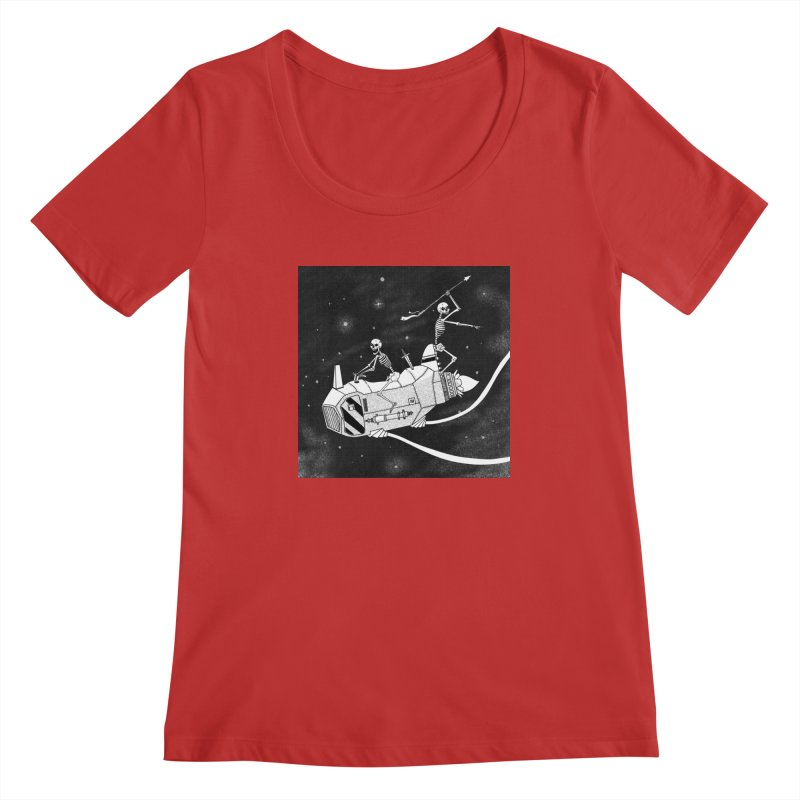 Cool shirt Women's Scoopneck by Steven Compton's Artist Shop