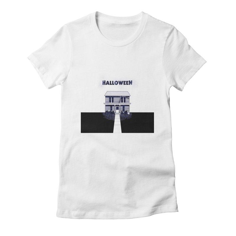 Halloween Women's Fitted T-Shirt by Steven Compton's Artist Shop