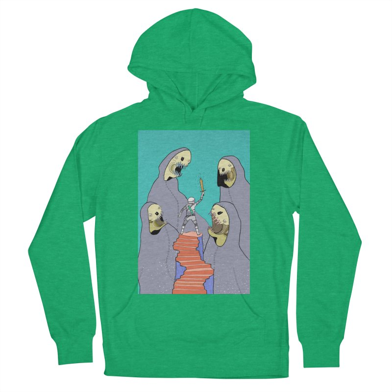 Future Space Men's French Terry Pullover Hoody by Steven Compton's Artist Shop