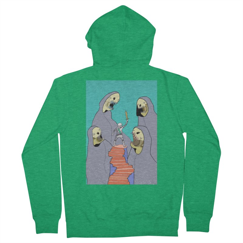 Future Space Women's French Terry Zip-Up Hoody by Steven Compton's Artist Shop