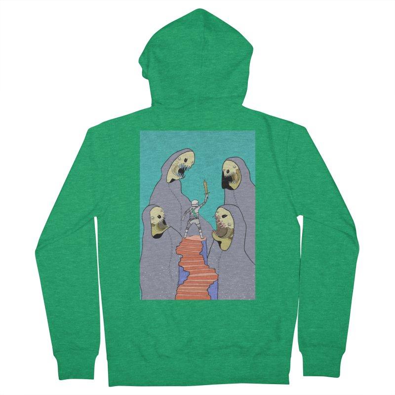 Future Space Men's Zip-Up Hoody by Steven Compton's Artist Shop