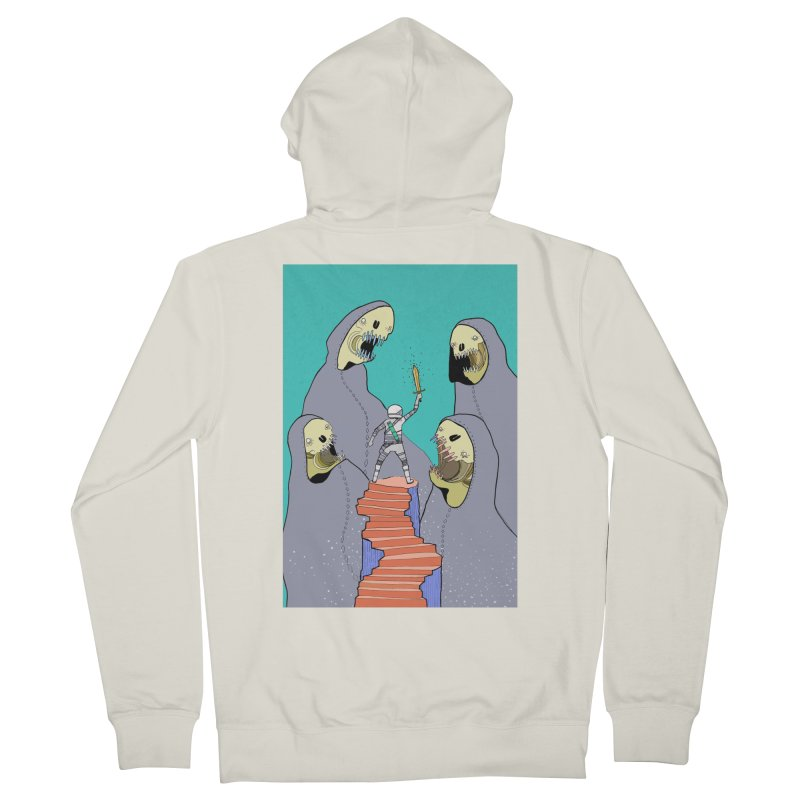 Future Space Men's French Terry Zip-Up Hoody by Steven Compton's Artist Shop