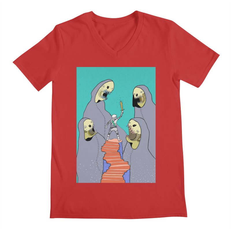 Future Space Men's Regular V-Neck by Steven Compton's Artist Shop