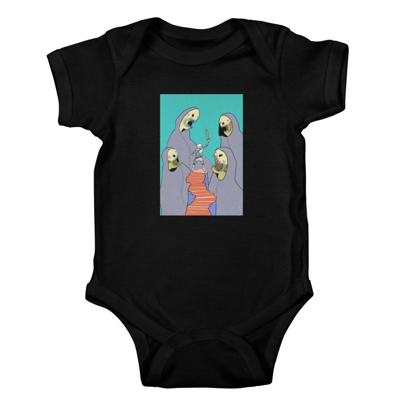 Future Space Kids Baby Bodysuit by Steven Compton's Artist Shop