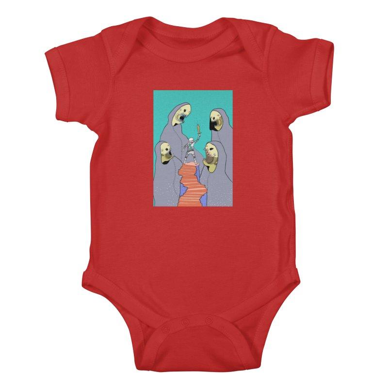 Future Space Kids Baby Bodysuit by Steven Compton's Artist Shop