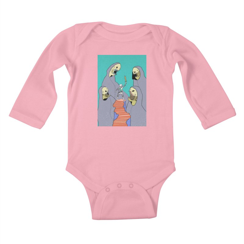 Future Space Kids Baby Longsleeve Bodysuit by Steven Compton's Artist Shop