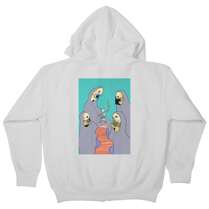 Future Space Kids Zip-Up Hoody by Steven Compton's Artist Shop