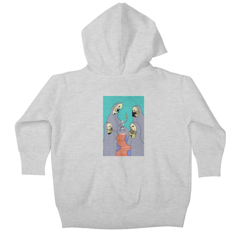 Future Space Kids Baby Zip-Up Hoody by Steven Compton's Artist Shop
