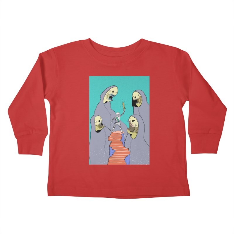 Future Space Kids Toddler Longsleeve T-Shirt by Steven Compton's Artist Shop