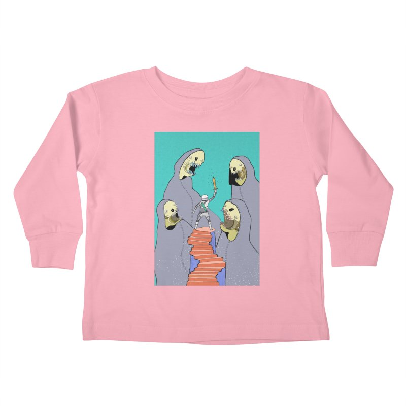 Future Space Kids Toddler Longsleeve T-Shirt by Steven Compton's Artist Shop