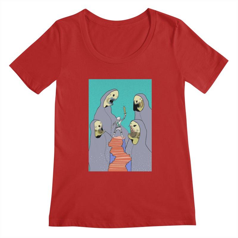 Future Space Women's Scoopneck by Steven Compton's Artist Shop
