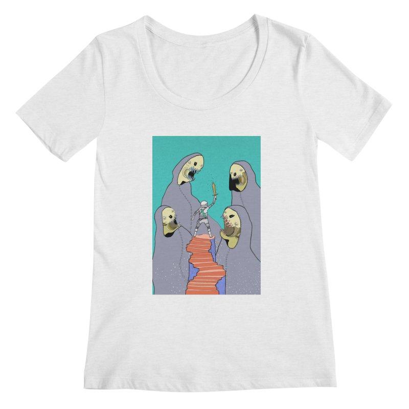 Future Space Women's Regular Scoop Neck by Steven Compton's Artist Shop