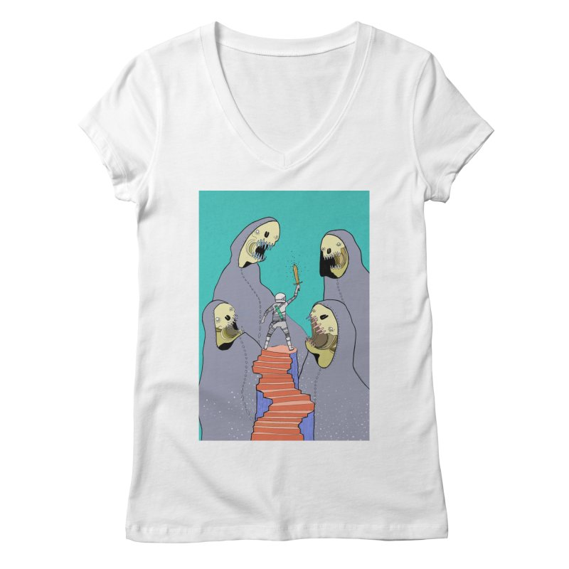 Future Space Women's Regular V-Neck by Steven Compton's Artist Shop