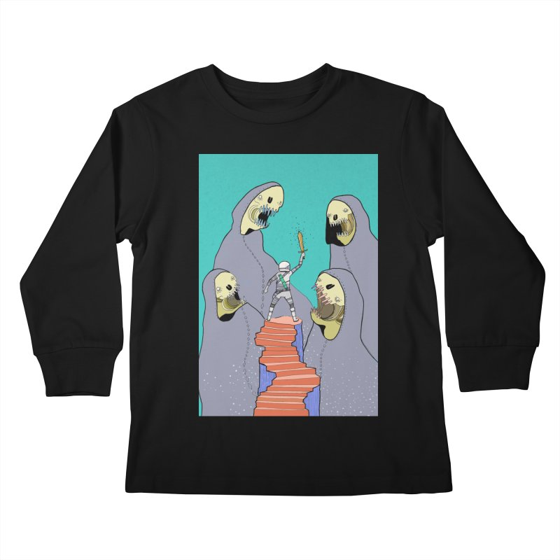 Future Space Kids Longsleeve T-Shirt by Steven Compton's Artist Shop