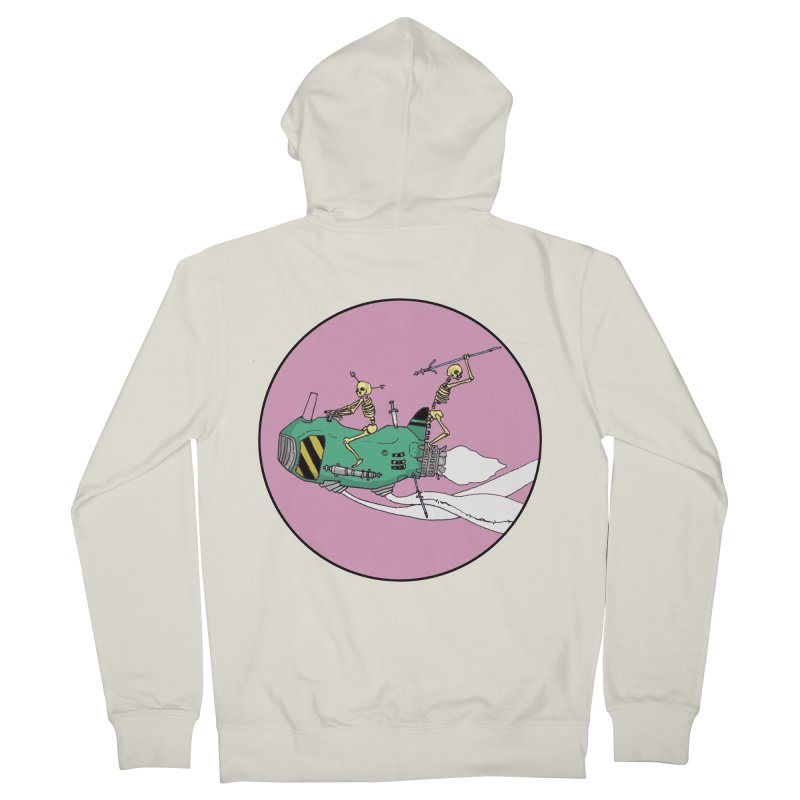 More Future Space Women's French Terry Zip-Up Hoody by Steven Compton's Artist Shop
