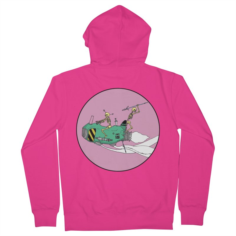 More Future Space Men's French Terry Zip-Up Hoody by Steven Compton's Artist Shop