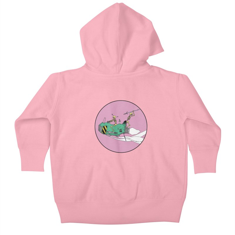 More Future Space Kids Baby Zip-Up Hoody by Steven Compton's Artist Shop