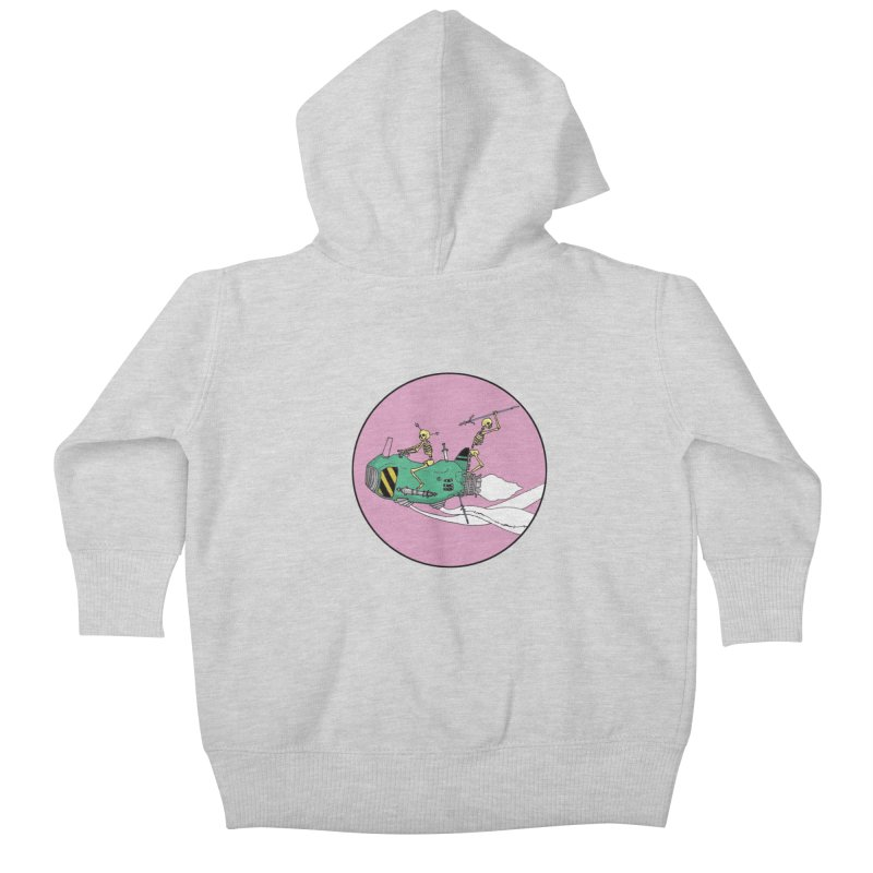 More Future Space Kids Baby Zip-Up Hoody by Steven Compton's Artist Shop