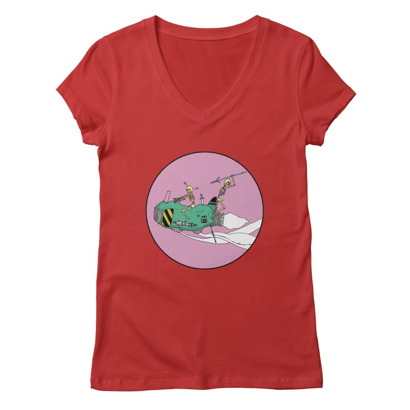 More Future Space Women's Regular V-Neck by Steven Compton's Artist Shop