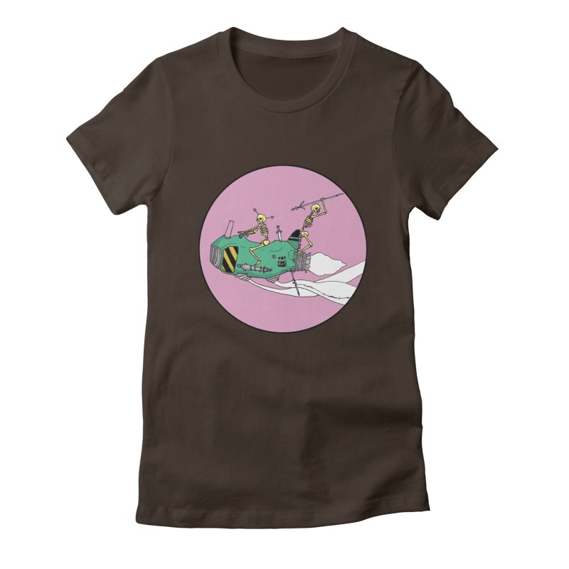 More Future Space Women's Fitted T-Shirt by Steven Compton's Artist Shop