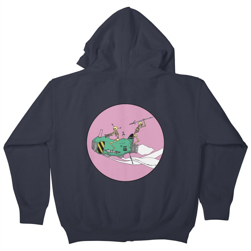 More Future Space Kids Zip-Up Hoody by Steven Compton's Artist Shop