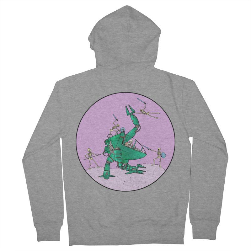 Future Space 3 Men's French Terry Zip-Up Hoody by Steven Compton's Artist Shop
