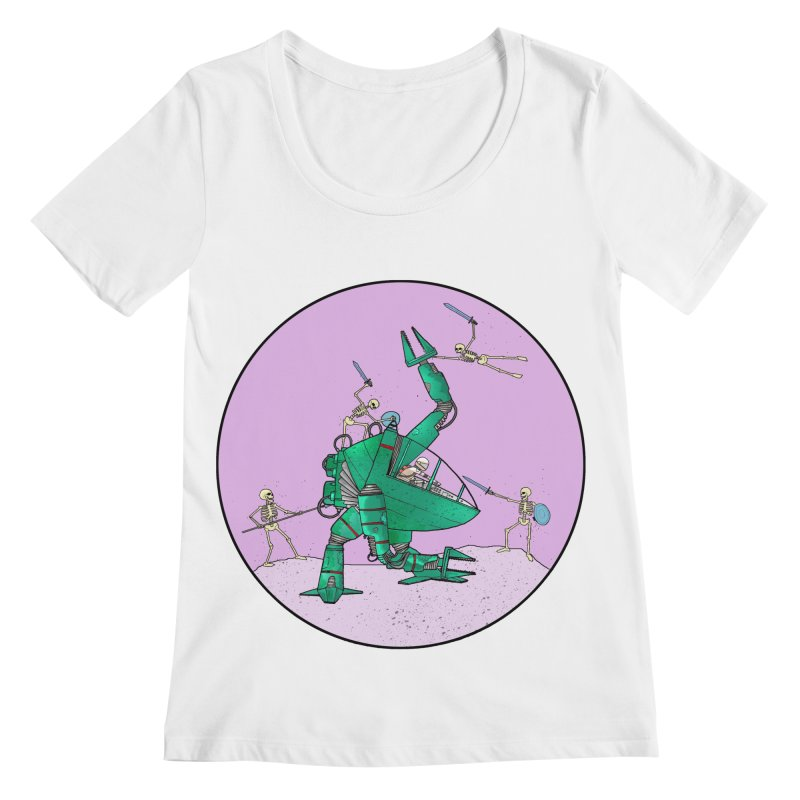 Future Space 3 Women's Scoopneck by Steven Compton's Artist Shop