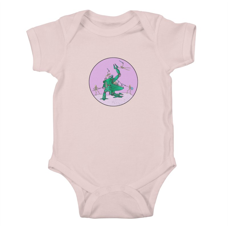 Future Space 3 Kids Baby Bodysuit by Steven Compton's Artist Shop